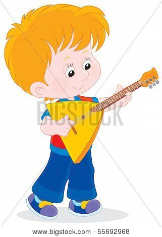 Little balalaika player