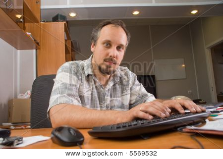 The Man With Computer