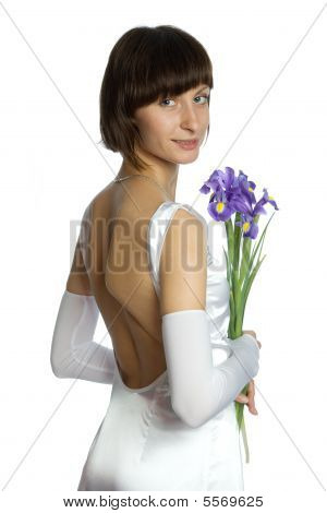 The Wedding Woman With Flowers
