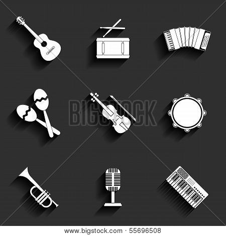 Vector icon of musical equipment