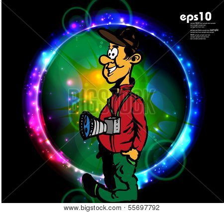 Funny Photographer. vector