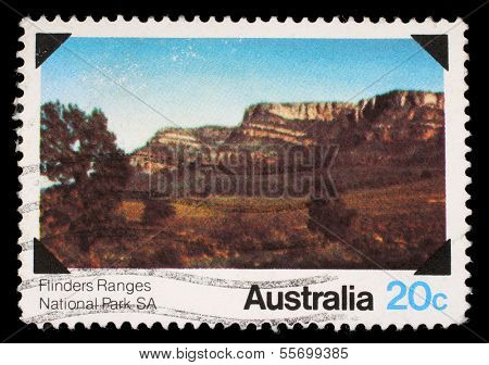 AUSTRALIA - CIRCA 1979: A Stamp printed in AUSTRALIA shows the Flinders Ranges, South Australia, National Parks series, circa 1979