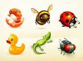 stock photo of bee cartoon  - Cartoon characters - JPG