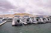 pic of houseboats  - Pier for houseboats in Lake Powell USA - JPG