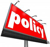 Policy Billboard Sign Follow Rules Obedience