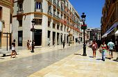 Shopping street, Malaga, Spain.