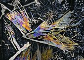 picture of potassium  - Microscopic view of colorful potassium nitrate crystals - JPG