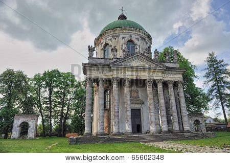 Roman Catholic Church Of The Exaltation Of The Holy And St. Joseph. Pidhirtsi Castle, Lviv, Ukraine