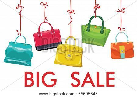 Colorful Fashion Women's Handbag Hang On Ribbon.big Sale