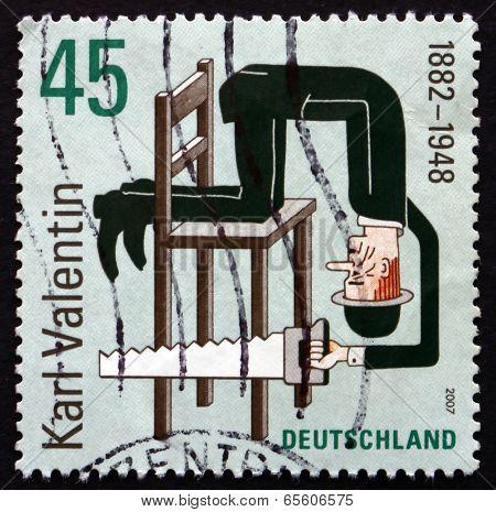 Postage Stamp Germany 2007 Karl Valentin, Writer
