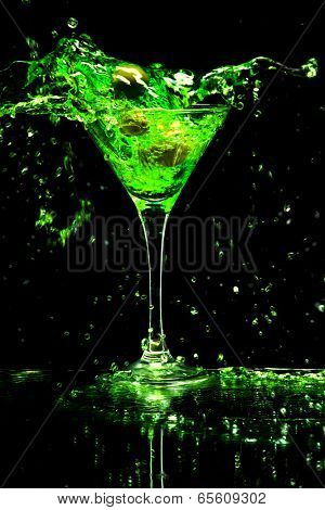 colorful cocktail on the black background
