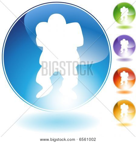 Linebacker Football Crystal Icon