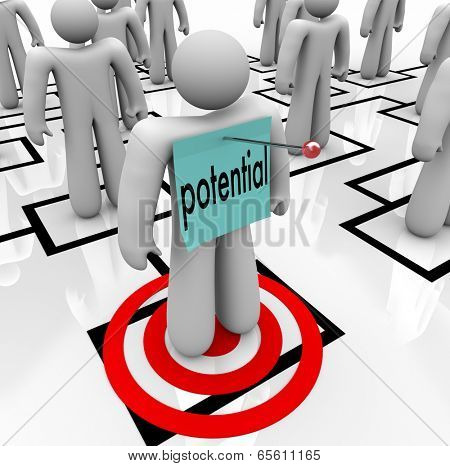 Potential word targeted employee organizational promotion training