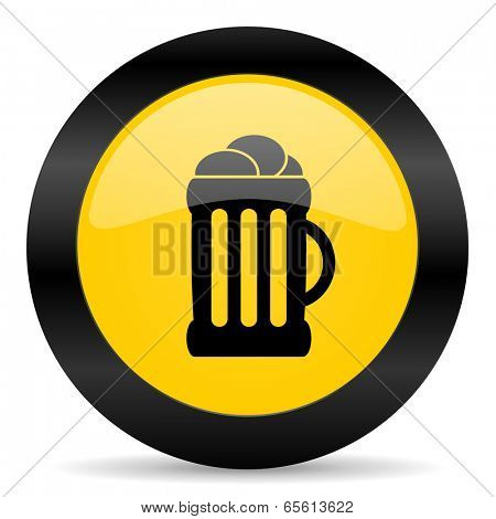 beer black yellow web icon