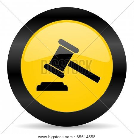 auction black yellow web icon