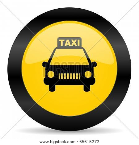 taxi black yellow web icon