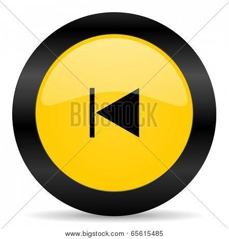 prev black yellow web icon