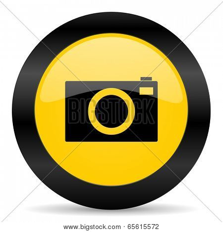 camera black yellow web icon