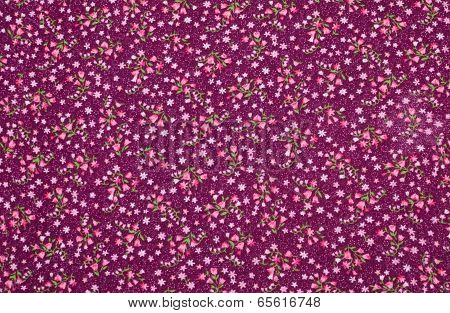 Fabric With Floral  Pattern