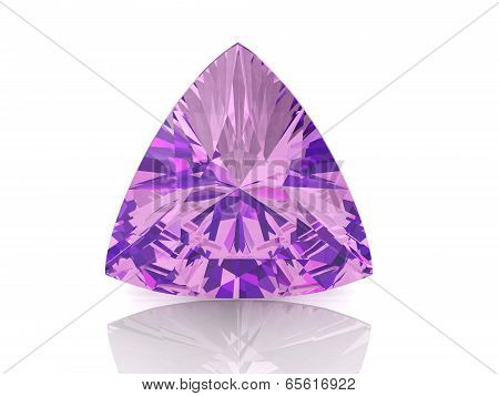 Amethyst On White Background With High Quality