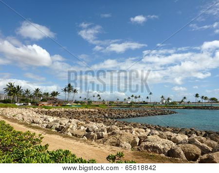 Path And Harbor In Ko Olina