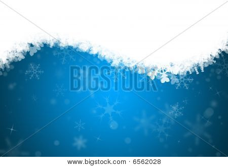 A Vertical Snowflake Background Containing Space For Text