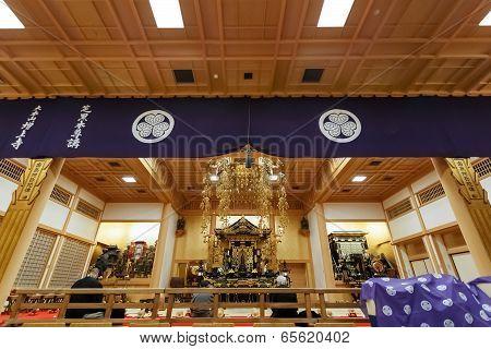 Ankokuden Hall at Zojoji Temple in Tokyo