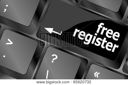 Free Register Computer Key Showing Internet
