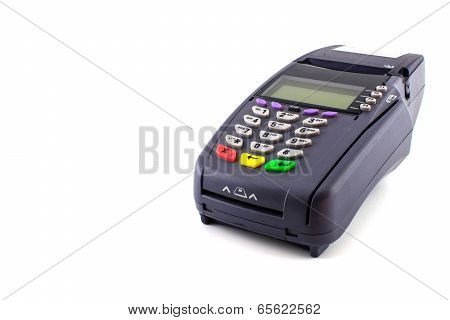 Portable Contactless Credit Card Terminal On Base