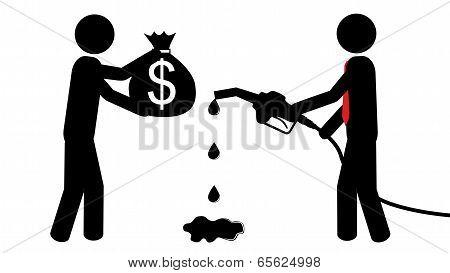 Man buy petrol