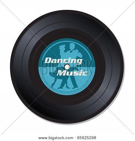 Dancing music vinyl record