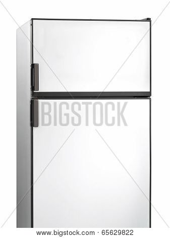 Old White Fridge Isolated On White