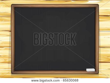 School Board On A Wooden Wall