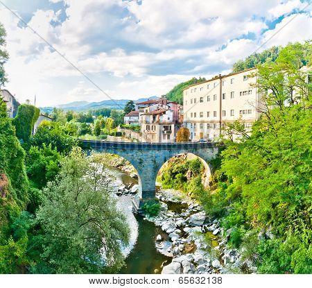 Castelnovo Garfagnana famous village in Tuscany, Italy
