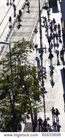 People Walk Along The Zeil In Midday Light