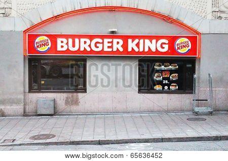 Burger King Restaurant In Stockholm, Sweden