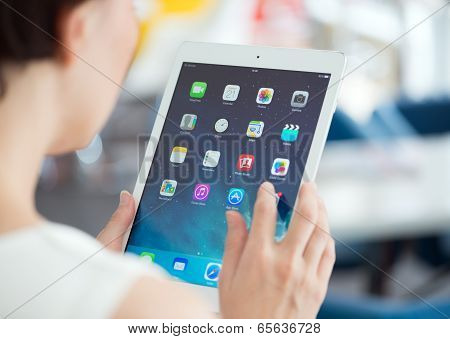 Woman With Apple Ipad Air