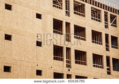 Wood Sheathing On Apartment Construction