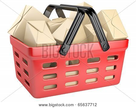 Shopping Cart Full With Boxes