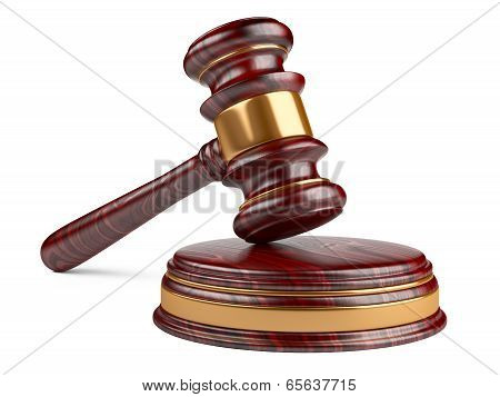 Wooden Gavel And Soundboard