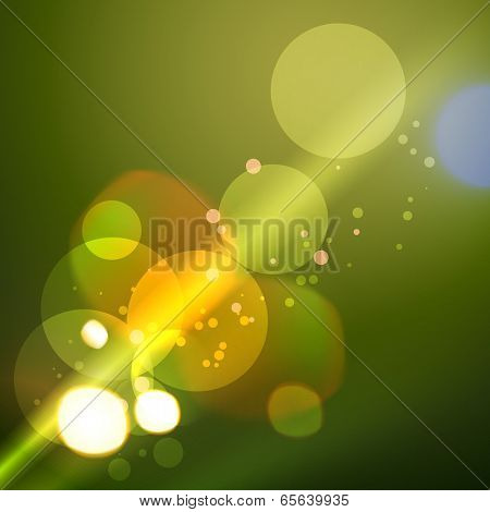 vector background of stylish bokeh lights