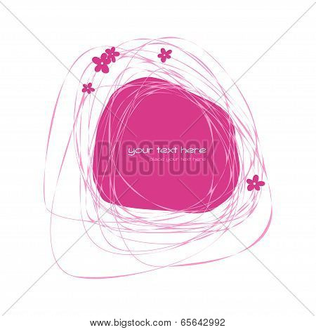 Abstract pink frame
