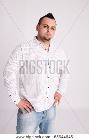 Young Businessman In White Shirt