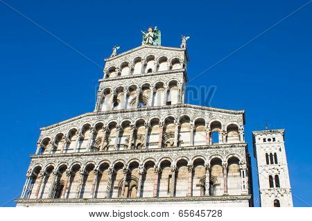 San Michele in Foro basilica in Lucca, Italy