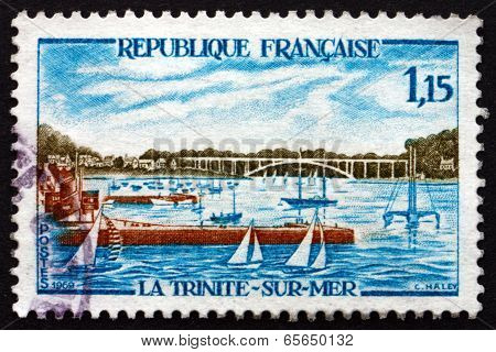 Postage Stamp France 1969 Sailboats In La Trinite-sur-mer Harbor