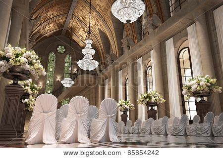 Church Cathedral wedding interior