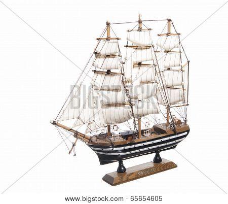 Model Of The Sailing Ship Amerigo Vespucci