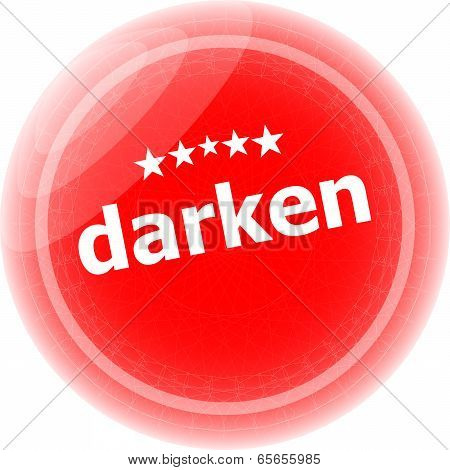 Darken Word Red Web Button, Label, Icon
