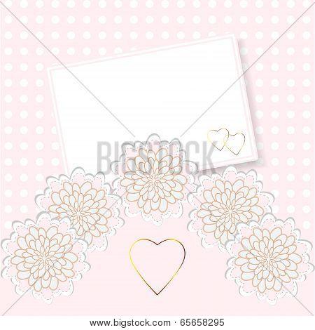 Delicate invitation card