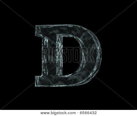 Frozen Letter D